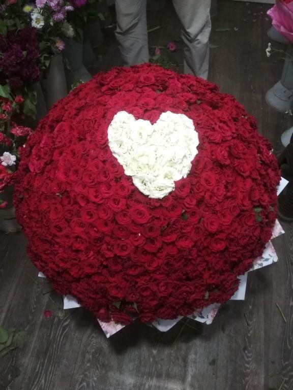 Букет местная отборная роза-501 роза