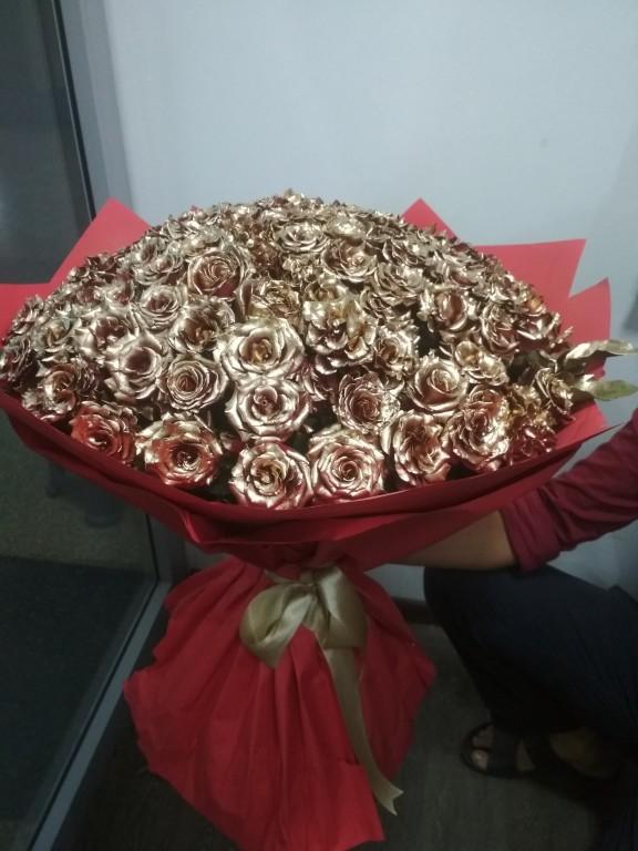 Букет золотая роза