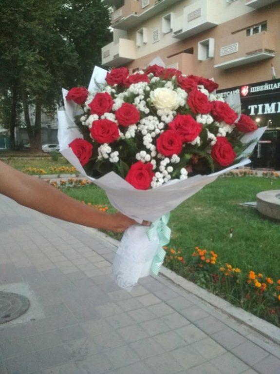 Букет местная отборная роза-31 роза