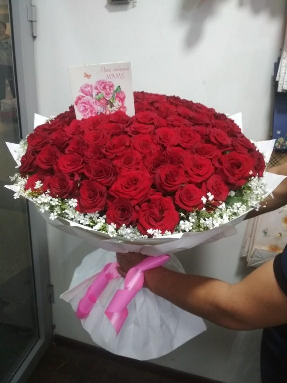 Букет местная отборная роза-101 роза