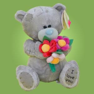 Мишка Теди с цветами